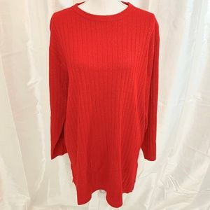SAG HARBOR WOMAN   RED SWEATER   2X PLUS